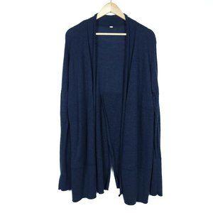 Lululemon Blue Knit Long Sleeve Cardigan Sweater